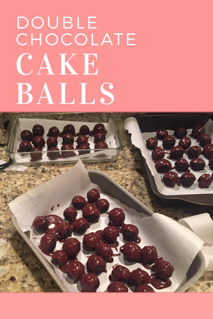 double chocolate cake balls recipe