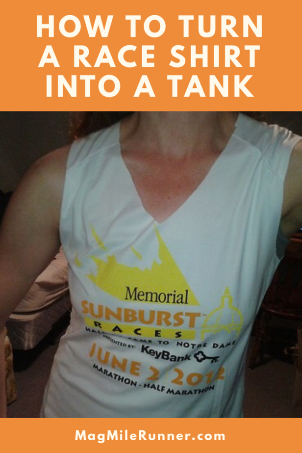 How to turn a race shirt into a tank top